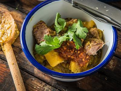 Braised Antelope Chile Verde Recipe