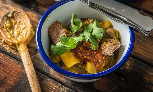Braised Antelope Chile Verde