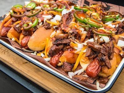 BBQ Brisket Hot Dog