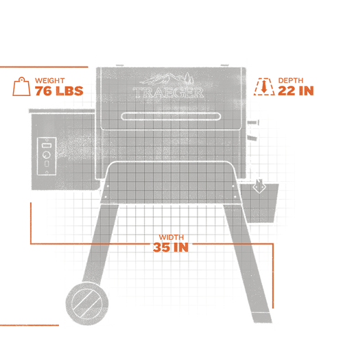 Bronson 20 Pellet Grill - Black extorior and interior views