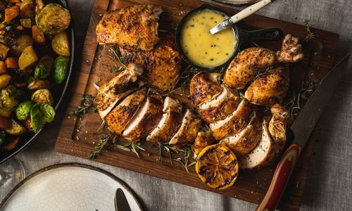 Chardonnay Chicken with Roasted Root Vegetables