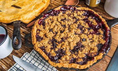Baked Cherry Bourbon Pie