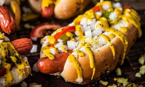 Grilled Chicago Hot Dog