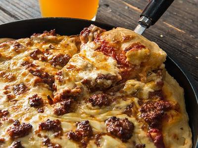 Baked Chicago Style Sausage Pizza Recipe