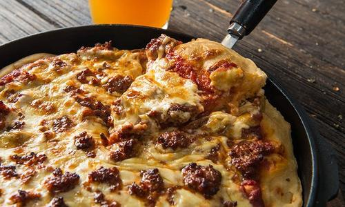 Baked Chicago Style Sausage Pizza