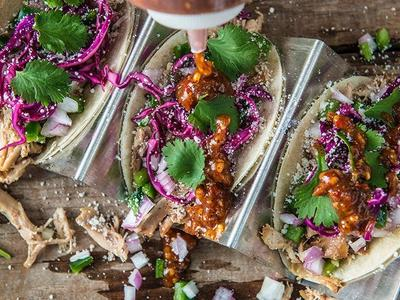 Beer Braised Chicken Tacos With Jalapeño Relish Recipe