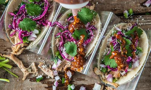 Beer Braised Chicken Tacos With Jalapeño Relish