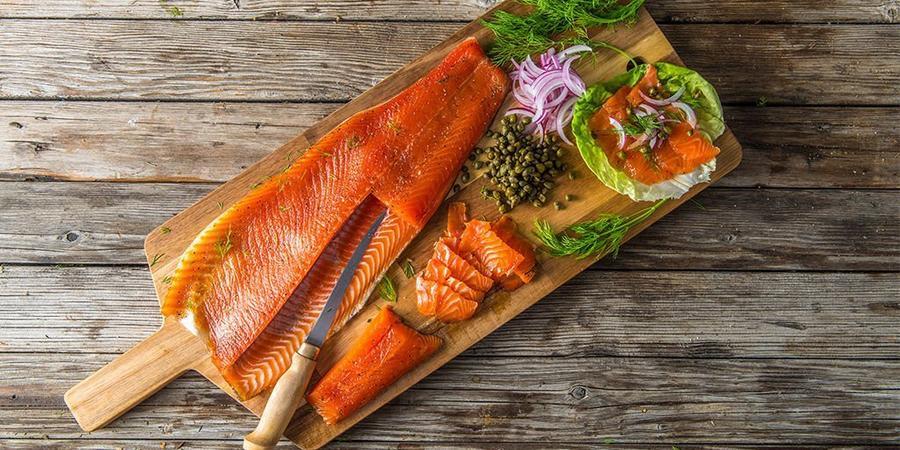 image of Cold-Smoked Salmon Gravlax