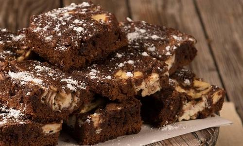 Marbled Brownies with Amaretto & Ricotta