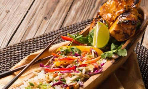 Grilled Island Chicken with Asian Slaw