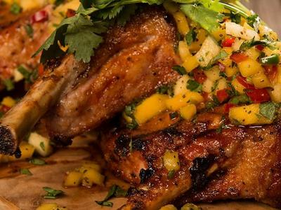 Roast Pork Loin with Mango Salsa Recipe