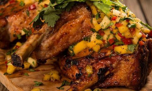 Roast Pork Loin with Mango Salsa