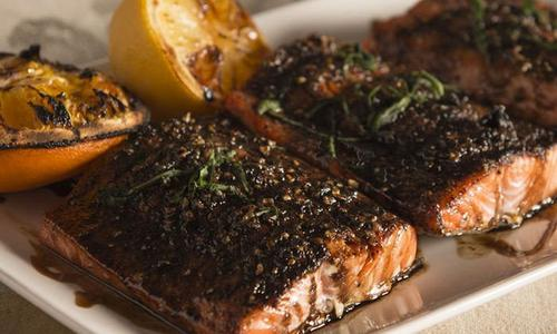 Traeger Salmon with Balsamic Glaze