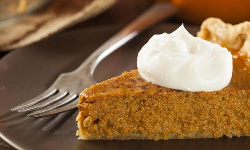 Pumpkin Pie With Bourbon Whipped Cream