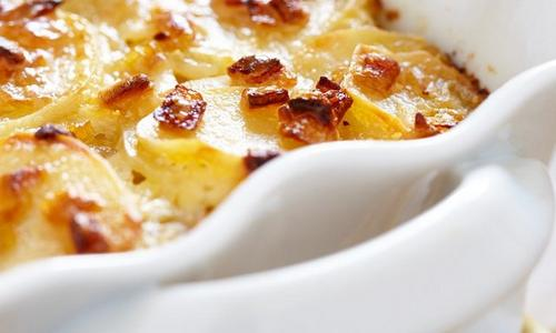 Scalloped Potatoes with Bacon & Chipotle Cream