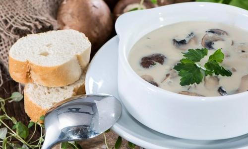 Smoked Cream of Mushroom Soup
