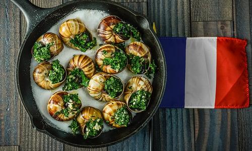 Baked Escargot with Herb Butter