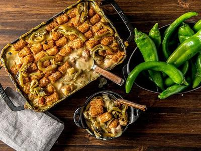 Baked Game Day Hatch Chile and Bacon Hot Dish Recipe