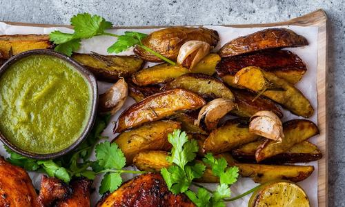 Garlic Herbed Potato Wedges