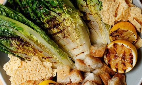 Grilled Romaine Caesar Salad by Amanda Fredrickson