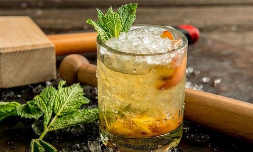 Grilled Peach Smash Cocktail
