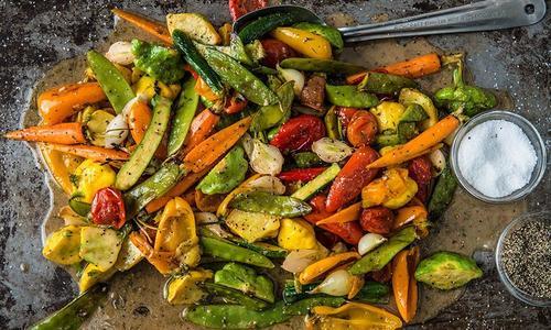 Grilled Vegetables with Lemon Herb Vinaigrette