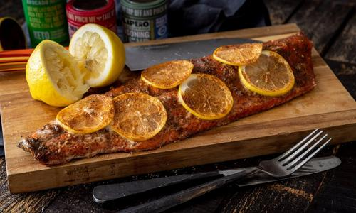 Grilled Whole Steelhead Fillet