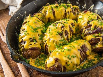 Roasted Hasselback Potatoes by Doug Scheiding Recipe