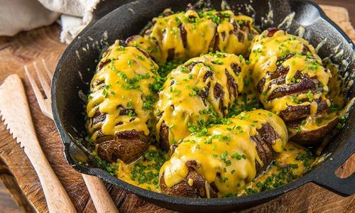 Roasted Hasselback Potatoes by Doug Scheiding