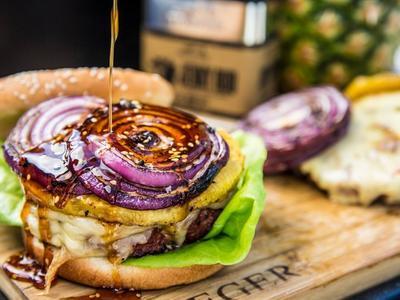 Grilled Hawaiian Teriyaki Burgers