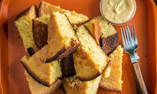 Baked Honey Cornbread Cake