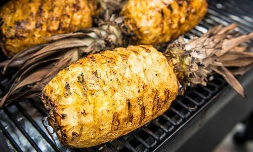 Grilled Honey Glazed Pineapple