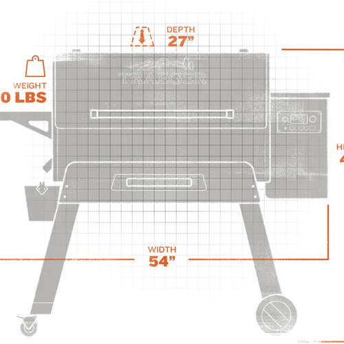 Ironwood Series 885 Pellet Grillextorior and interior views