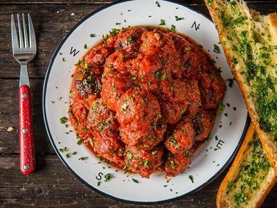 Braised Italian-style Venison Meatballs Recipe