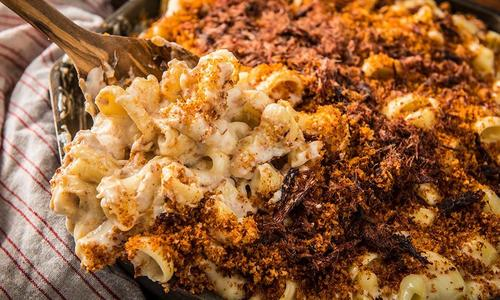 Baked Mac & Cheese with Jerky Dust