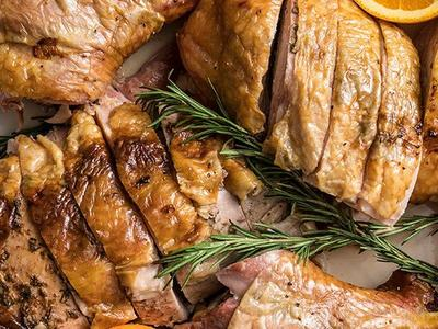 Spatchcocked Turkey with Jerk Butter Recipe