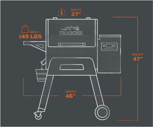 Traeger Ironwood 650 Pellet Grillextorior and interior views