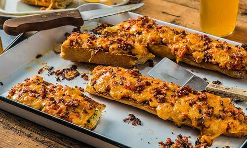 Baked Pimento Cheese And Bacon Bread