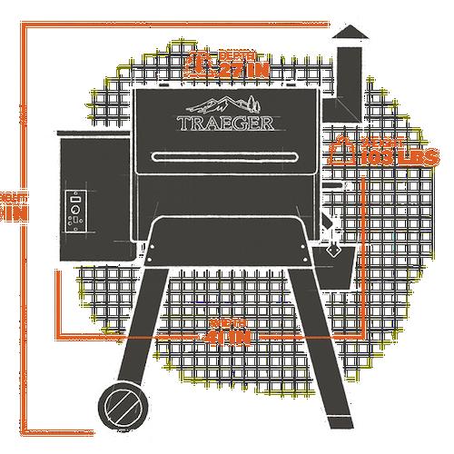 Pro Series 22 Pellet Grill (Gen 1) - Bronzeextorior and interior views