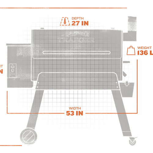 Pro Series 34 Pellet Grill (Gen 1) - Bronzeextorior and interior views