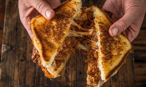 BBQ Pulled Pork Grilled Cheese Sandwich