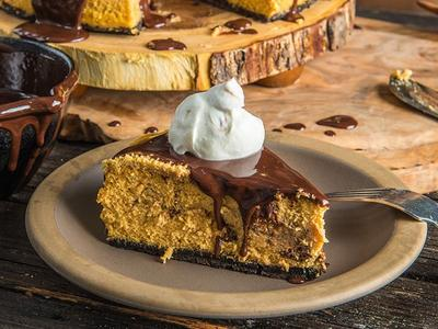 Baked Pumpkin Cheesecake With Chocolate Cookie Crust Recipe