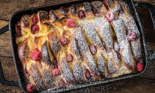 Baked Raspberry French Toast Casserole