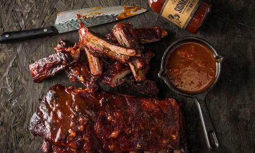 Smoked Ribs With Coconut Rum BBQ Sauce by Journey South