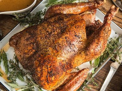 Roasted Wild Turkey with Herb Butter Recipe