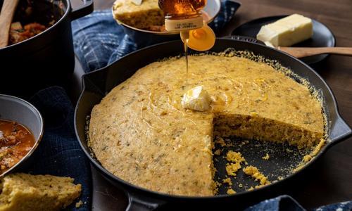 Sage & Honey Skillet Cornbread