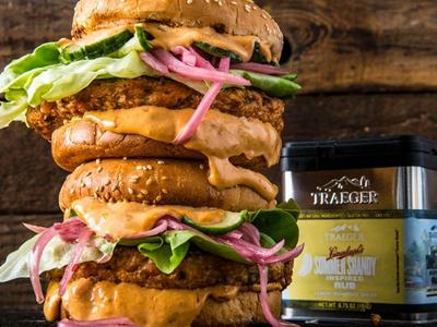 Grilled Salmon Burger with Chipotle Mayo Recipe