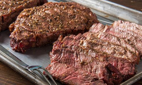 Grilled Rib-Eye Steaks by Doug Scheiding