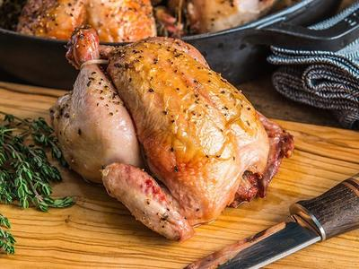 Skillet Roasted Game Bird Recipe