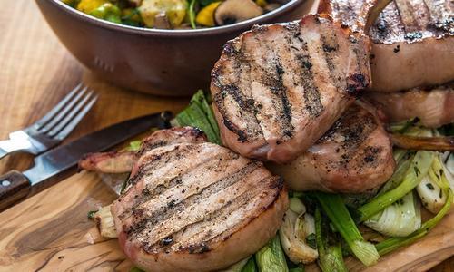 Smoked & Brined Bone-In Pork Chops